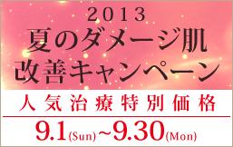 夏のダメージ肌改善キャンペーン!