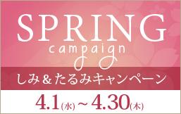 しみ&たるみ SPRINGキャンペーン