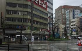 台風に、大雨。